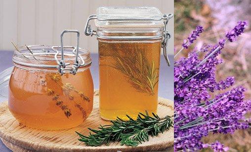 Мед отменно сочетается с целебными растениями