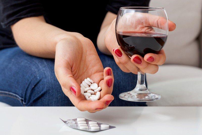 Алкоголь до и после приема лекарства