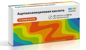 Эффективность Ацетилсалициловой кислоты как анальгетика
