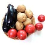 Баклажаны, помидоры и картофель