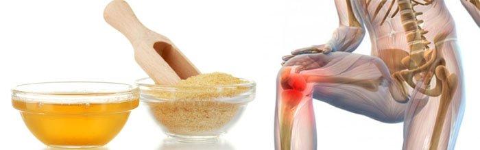 Желатин в лечении суставов