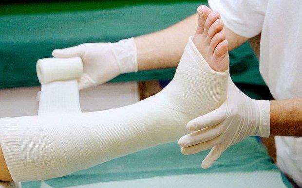 Причины перелома ноги