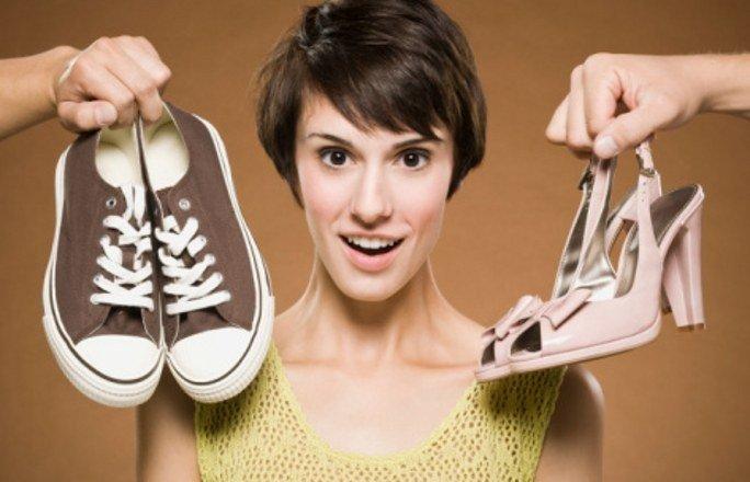 Затруднения в выборе подходящей и удобной обуви