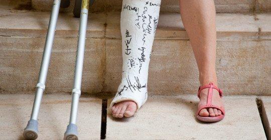 Простой перелом ноги