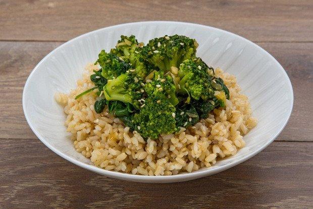 Рис и брокколи