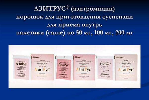 Форма выпуска препарата АзитРус