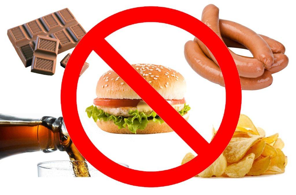 Вредят суставам жирная пища, копчености, соления и газировка